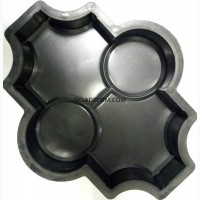 Формы для тротуарной плитки Клевер с кругами гладкий 4, 5 см
