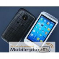 HTC One 501, 2 Sim + чехол! (черный и белый)