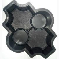 Формы для тротуарной плитки Клевер с кругами шагрень 6 см