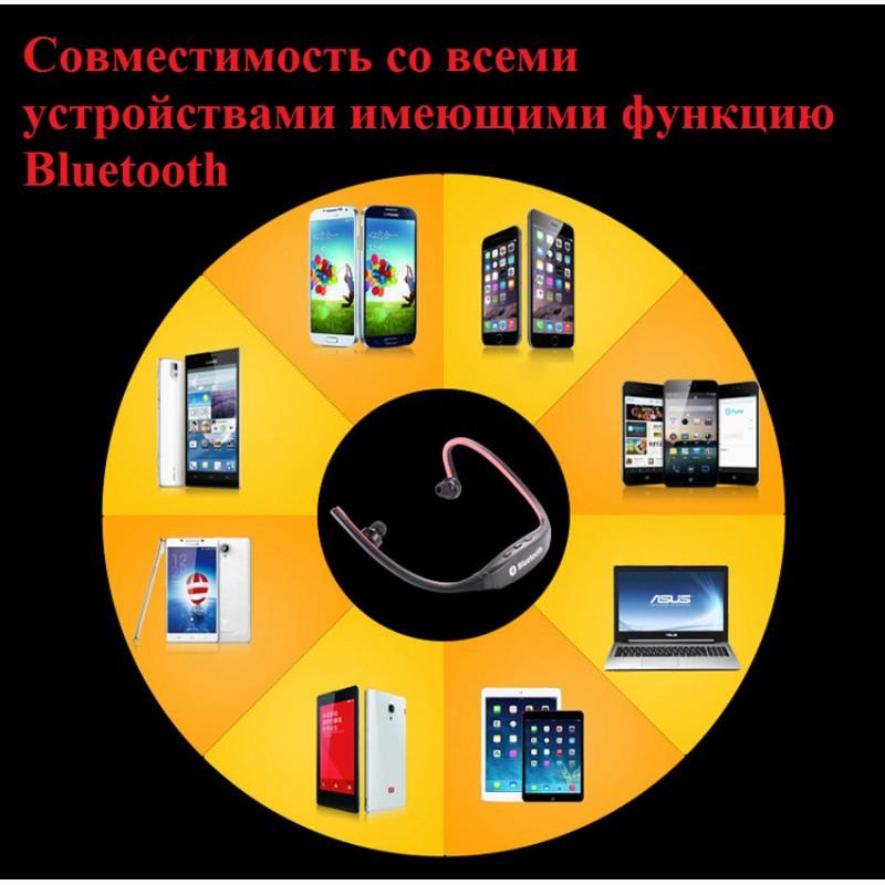 Фото 7. Epik S9 Спортивные Bluetooth Наушники водонепроницаемые беспроводные блютуз гарнитура