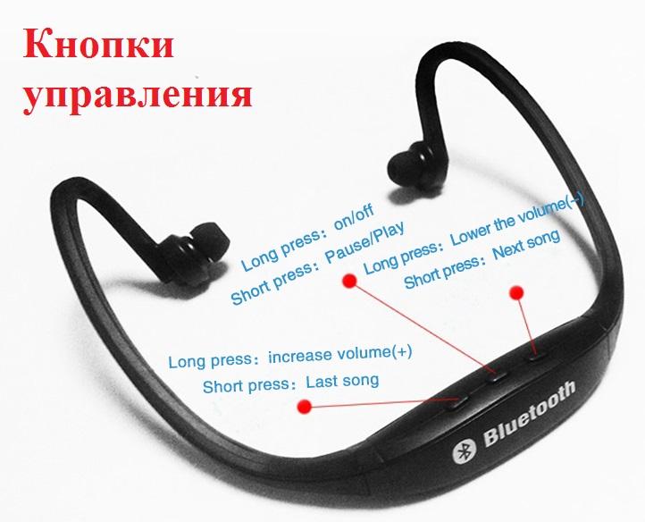 Фото 9. Epik S9 Спортивные Bluetooth Наушники водонепроницаемые беспроводные блютуз гарнитура