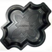 Формы для тротуарной плитки Клевер узорный 2, 5 см