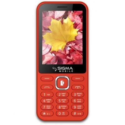 Фото 4. Sigma X-style 32 Boombox red, black кнопочный мобильный телефон