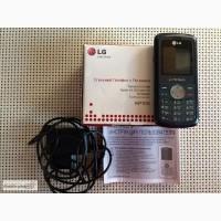 Продам б/у мобильный телефон LG KP 105 Black, требует ремонта – не видит SIM-карту