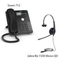 Snom D712 + Jabra Biz 1500 Mono QD, комплект: sip телефон + гарнитура