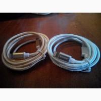 Зарядной шнур lightning (для iPhone 5, 6, 7, +s). Нейлон. 1м. кабель