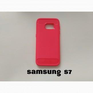 Чехол Бампер Samsung S7 Красный