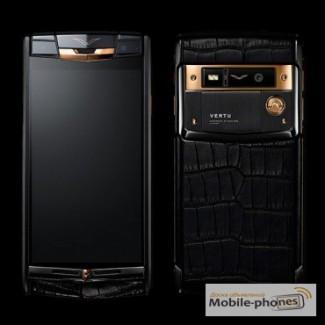 Vertu Signature Touch Pure Black Gold Alligator, Verty, верту, копии vertu