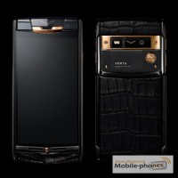 Vertu Signature Touch Pure Black Gold Alligator, Verty, верту, копии vertu