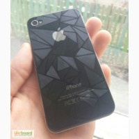 Защитные пленки с красивым узором передняя и задняя на iPhone 4
