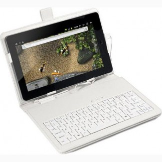 Чехол с клавиатурой для планшетов 10 дюймов (микро USB) Белый