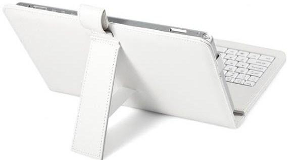 Фото 3. Чехол с клавиатурой для планшетов 10 дюймов (микро USB) Белый
