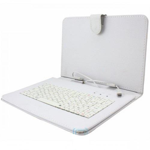 Фото 4. Чехол с клавиатурой для планшетов 10 дюймов (микро USB) Белый